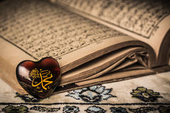 Profeta de Mohamed del fondo del koran del símbolo del Islam foto de archivo libre de regalías
