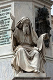 Profeta Ezechiel statua w Rzym, Fotografia Stock