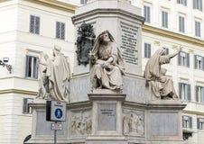 Profeta Isaia da Revelli, base della colonna del monumento di immacolata concezione, Roma fotografie stock