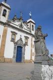 Profeta Jonas y la iglesia Bom Jesús de Matosinhos Fotografía de archivo