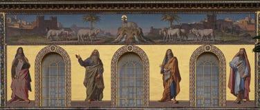 Profeter Isaiah, Jeremiah, Ezekiel och Daniel royaltyfria bilder