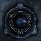 Profezia celtica del corvo fotografia stock