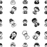 Proffesion pattern icons in black style. Big collection of proffesion vector symbol stock illustration Stock Photography
