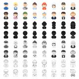 Proffesion set icons in cartoon style. Big collection of proffesion vector symbol stock illustration. Proffesion set icons in cartoon style. Big collection of Royalty Free Stock Photo