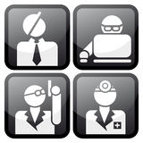 Proffesional at work icon set Stock Photos