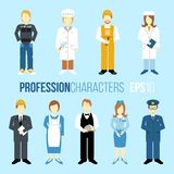 Proffession characters set Stock Photos