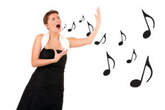 Proffessional singer Royalty Free Stock Photos