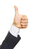 Profie view of a thumbs up Royalty Free Stock Photos