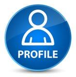 Profiel (lidpictogram) elegante blauwe ronde knoop Stock Afbeelding