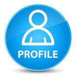 Profiel (lidpictogram) elegante cyaan blauwe ronde knoop Stock Foto's