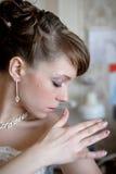 Profiel van bruid stock afbeeldingen