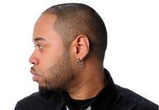 Profiel van de Afrikaanse Amerikaanse Mens Royalty-vrije Stock Fotografie