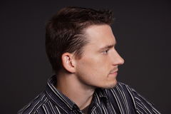 Profiel van de jonge mens Royalty-vrije Stock Foto's