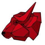 Profiel van de stieren het hoofd vectorstijl heometryk Stock Afbeelding