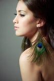 Profiel van een mooie jonge vrouw Royalty-vrije Stock Fotografie