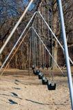 Profiel van een swingset Stock Afbeeldingen