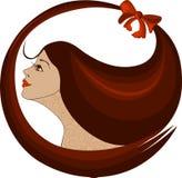 Profiel van een vrouwenembleem royalty-vrije illustratie