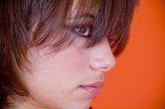 Profiel van jonge vrouw royalty-vrije stock fotografie