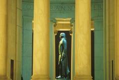 Profiel van standbeeld van Thomas Jefferson, Jefferson Memorial, Washington, gelijkstroom Royalty-vrije Stock Foto's