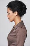 Profielportret van mooie bedrijfsvrouw royalty-vrije stock fotografie