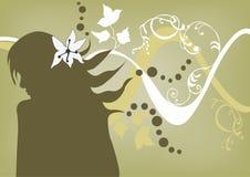 profil royaltyfri illustrationer