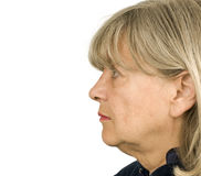Profil aîné de femme Image libre de droits