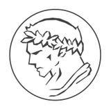 Profil av Caesar royaltyfri illustrationer