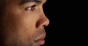 Profil av den afrikanska mannen Royaltyfri Foto