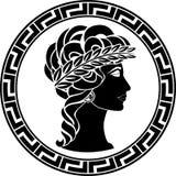 Profil av den forntida kvinnan vektor illustrationer
