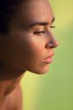 Profil av den våta kvinnan Arkivbild