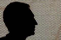 Profil av det mänskliga huvudet Arkivbilder