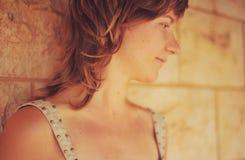 Profil av flickan Royaltyfri Fotografi