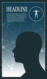 Profil av huvudet av en man Denna är mappen av formatet EPS10 Arkivbilder