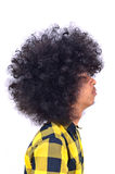 Profil av mannen med långt hår Royaltyfri Fotografi