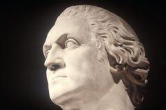Profil av statyn av George Washington som en romare av Horatio Greenough, 1840, Smithsonian institut, Washington, DC Arkivbilder
