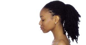 Profil av svarta kvinnan royaltyfria foton