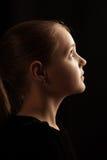 Profil av unga flickan Arkivbilder