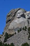 Profil av Washington på Mt rushmore Arkivbild