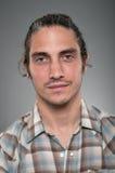 Profil caucasien Portrtait d'expression de blanc d'homme Images stock