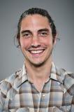 Profil caucasien Portrtait d'expression de blanc d'homme Photographie stock libre de droits