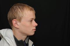 Profil d'adolescent   Image stock