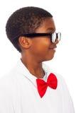 Profil d'enfant intelligent de scientifique photos libres de droits