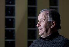 Profil d'homme aîné Photographie stock libre de droits