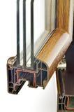 Profil d'hublot de PVC Photographie stock