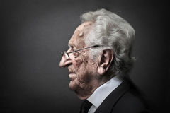 Profil d'un aîné Photo libre de droits