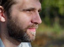Profil d'un jeune homme Images stock