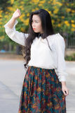 Profil d'un jeune regard asiatique de femme Photographie stock libre de droits