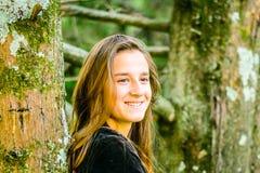 Profil d'une belle jeune fille Photo stock