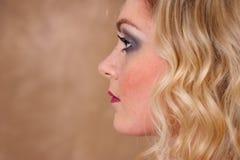 Profil d'une fille Photographie stock libre de droits