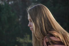 Profil d'une fille image libre de droits